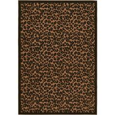 K & M bathroom decor- Leopard Print Indoor/Outdoor Rug