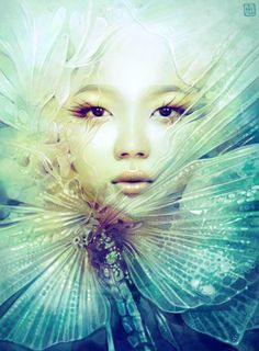 Anna Dittmann is a digital illustrator from San Francisco with a passion for enigmatic portraiture. Her paintings are a sight to behold: ethereal portraits inspired by nature that Anna Dittmann, Illustrator, Fantasy Portraits, Surreal Portraits, Mystique, Amazing Art, Fantasy Art, Art Drawings, Art Photography