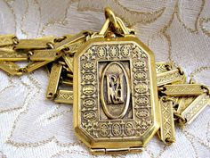 Maria Locket Chain Necklace by Antiquities Couture 1928 Jewelry Co.