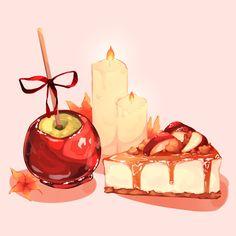 Cute Food Drawings, Pretty Drawings, Arte Do Kawaii, Kawaii Art, Cute Food Art, Cute Art, Food Illustrations, Illustration Art, Food Art Painting