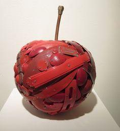 "Tory Folliard Gallery: Leo Sewell - ""Apple"" Found Object Art, Leo, Contemporary Art, Art Gallery, Apple, Artists, Studio, Projects, Apple Fruit"