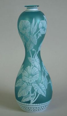 Thomas Webb and Sons cameo glass vase.