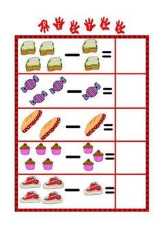 Math Addition Worksheets, Kindergarten Math Worksheets, Preschool Math, Worksheets For Kids, Fun Activities For Toddlers, Math For Kids, Preschool Activities, English Grammar For Kids, Daily Math