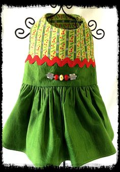 Cherries And Bamboo Cotton Print In Soft Cotton Dress With Exclusive Handmade Lampwork Beads by NakedDogStudio On Etsy