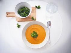 Sweet potato soup, bataattikeitto, recipe in Finnish