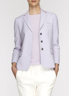 Covered Placket Blazer-Lilac VINCE