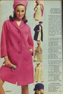 1968 Sears Spring catalog...loved looking at the catalog.  This is how we shopped....even for our fabric for our sewing.  Maybe that is why I still do not really like to actually go shopping.  I was not trained to shop 'til you drop !
