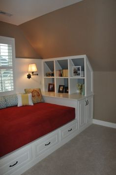 Attic Space Design, Pictures, Remodel, Decor And Ideas   Page Built In Bed  Nook