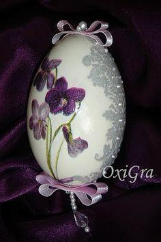 Пасхальные яйца - декупаж