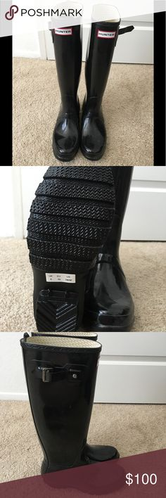 Size 8 *brand new* Hunter rain boots Brand new size 8 black hunter rain boots. Authentic Hunter Boots Shoes Winter & Rain Boots