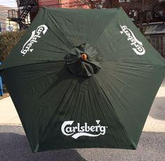Beau Carlsberg Beer Umbrella Pool Beach Patio Bar Pub Man Cave 7u0027 Tall New In Box
