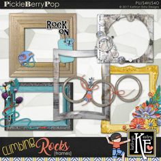 Climbing ROCKS! Frames :: Coordinates with the entire Climbing Rocks Digital Scrapbooking Collection by Kathryn Estry @ PickleberryPop