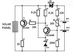 world technical: Solar charger circuit diagram