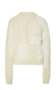 Wool and Angora-Blend Knitted Sweater by Carven - Moda Operandi