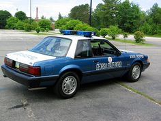 1991 GSP Mustang ~~ I'd love to have one of these Old Police Cars, Ford Police, State Police, Rat Rods, Ford Mustang, Ford Fox, Radios, Emergency Vehicles, Police Vehicles