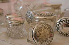 Vintage Sterling Silver Vanity Jars