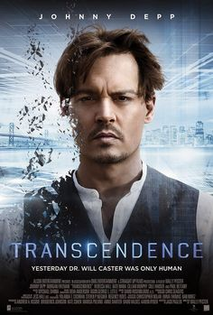 Movie poster for Transcendence, a movie which explores possible dangers of artificial intelligence.