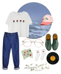 """blue boy"" by angel-bread ❤ liked on Polyvore featuring Dr. Martens and Pier 1 Imports"