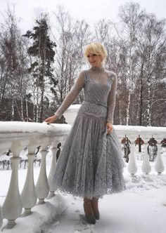 Pinned from Joller Käsitöö -site (Facebook). This is the most beautifull knitted dress I've ever seen!