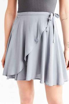 Find all the latest looks in skirts like plaid skirts, ruffle skirts & satin skirts at Urban Outfitters. You'll love our fun collection of wrap skirts, utility skirts and leopard skirts! Ballet Inspired Fashion, Ballet Fashion, Dance Outfits, Skirt Outfits, Ballet Outfits, Ballet Wrap Skirt, Ballet Wear, Ballet Clothes, Tango Dress