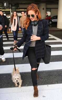Brittany Snow from The Big Picture Precious pooch! The actress is seen arriving back at LAX with her adorable pup.