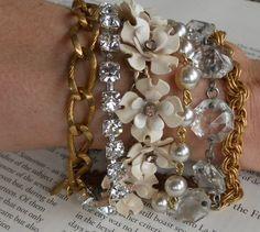 Enamored enamel vintage flower bracelet from