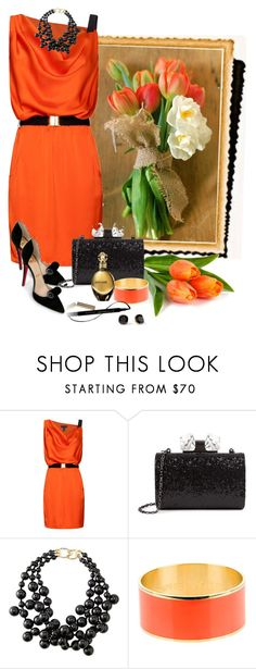 """Pivonka#653"" by lilikatka ❤ liked on Polyvore featuring MANGO, Christian Louboutin, Ted Baker, Kenneth Jay Lane, SOPHIE by SOPHIE, Roberto Cavalli, L'Oréal Paris and Kate Spade"