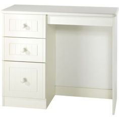 Buy Woodbridge 3 Drawer Dressing Table - White at Argos.co.uk - Your Online Shop for Dressing tables.