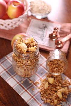 Who doesn't love Apple Pie? Here we have an apple pie spiced Apple Pie Granola made with real apples! Ready in 30 minutes! The perfect snack or breakfast.