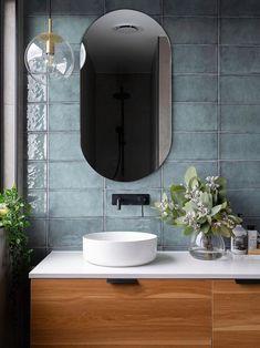 One Room Challenge Week 1 :: Half Bathroom Plans - Salle de Bains 02 Diy Bathroom, Bathroom Plans, Bathroom Trends, Bathroom Ideas, Master Bathrooms, Bathroom Organization, Modern Bathrooms, Wood In Bathroom, Green Bathrooms
