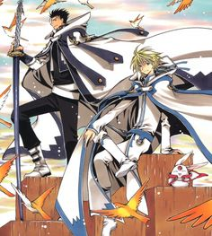 Tsubasa: RESERVoir CHRoNiCLE ~~~ Fai and Kurogane with the Wind in their Hair and Smiles on their Faces!