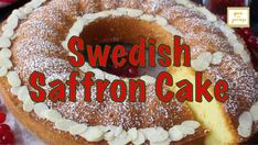 An easy cake recipe for the holidays! Swedish Saffron Cake (Saffranskaka), is a moist and deliciously soft cake that tastes even better the day after (if there's any left). Great for breakfast, snack or dessert! Saffron Cake, Scandinavian Recipes, Easy Cake Recipes, Snacks, Holidays, Baking, Breakfast, Ethnic Recipes, Desserts