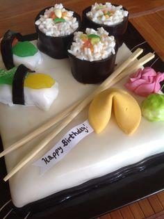 Sushi birthday cake!