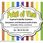 This is a fun game similar to U*O that teaches Point of View - 1st person, 2nd person, and 3rd person.  Students can play in groups of 3-5.  Direct...