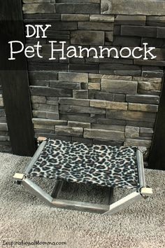 This easy-to-make and inexpensive DIY Pet Hammock is the perfect place for your fur-baby to relax. #NutrishCatCrafts #CollectiveBias