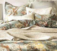 Arianne Chinoiserie Organic Duvet Cover, King/Cal. King #potterybarn