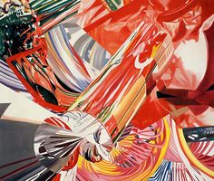 "James Rosenquist (b. American), ""Hitchhiker -- Speed of Light"" Oil on Canvas, Size: x Collection of 'Douglas and Maureen Cohn', Nyc. James Rosenquist, Modern Art, Contemporary Art, Tv Movie, Pop Art Movement, E Mc2, Jim Dine, Claes Oldenburg, Arte Pop"
