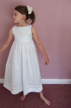 Cream Crochet Lace Girl's Dress and headband/Wedding/Flower girl ...