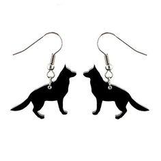 Saksanpaimenkoira-korvakorut  Käy omasi tästä: Saksanpaimenkoira-korvakorut sopivat lahjaksi eläinten ystävälle tai koiran omistajalle! Koko: 2 x 3 cm.  #samaskoru #korut #korvakorut Drop Earrings, Jewelry, Jewlery, Jewerly, Schmuck, Drop Earring, Jewels, Jewelery, Fine Jewelry