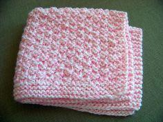 Ravelry: Box Stitch Preemie Baby Blanket by Joan Laws