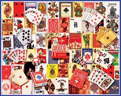 Playing Cards Collage Collage Jigsaw Puzzle