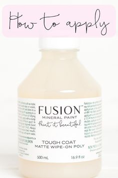 Fusion's Tough Coat is a non-yellowing matte wipe on Poly. It's the easiest way to yop coat your projects. Find out how. Refinish Wood Furniture, Funky Painted Furniture, Refurbished Furniture, Repurposed Furniture, Easy Flower Painting, Diy Painting, Wipe On Poly, Kitchen Cabinets Before And After, Paint Sealers