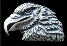 Famous American Wild Bald Eagle Head Bird Cool Belt Buckle Boucle de Ceinture #eagle #eaglehead #americaneagle #eaglebuckle #eaglebeltbuckle #buckle #beltbuckle