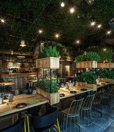 イスラエルのグリーンなレストランは身も心も癒されそうです。