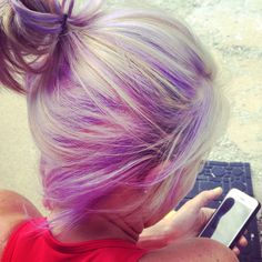 Lavender purple, light purple hair, pastel purple, hair color, pastel purple highlights, touch of cotton candy, light pink highlights, blonde with purple