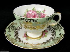 Discussion on LiveInternet - Russian Service Online Diaries Tea Cup Saucer, Tea Cups, Coffee Cups, Vintage China, Vintage Teacups, Vintage Tableware, Afternoon Tea Parties, Tea Strainer, My Cup Of Tea