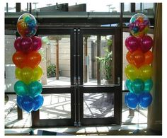 """Just love these colours!! How cool are those tiny balloons stuffed inside a """"bubble""""~"""