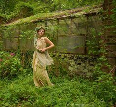 Nuno Felt Dress Halter Wrap Maxi Natural Dyes by UpCycledArt,