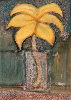 Still Life by Abidin Dino (Turkish, Balance Art, Turkish Art, Dream Art, Amazing Flowers, Contemporary Paintings, Still Life, Collage, Pastel, Colours