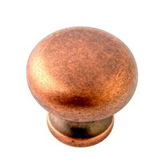 """Giagni KB-6BR-TC 1-1/4"""" Round Knob in Tumbled Copper"""